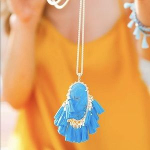 Kendra Scott Betsy Blue Long Tassel Necklace